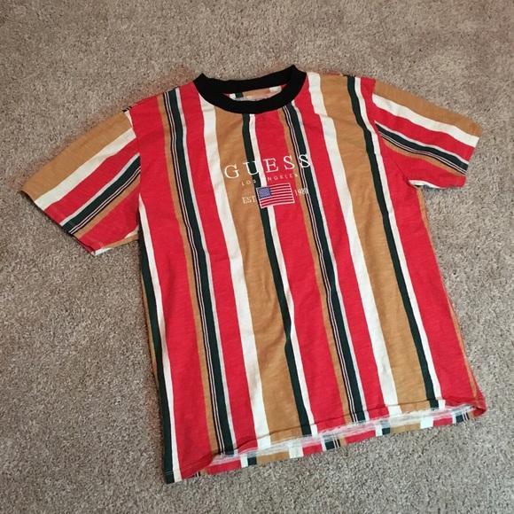 83cd4f97e2 Guess Shirts | David Sayer Stripe Tee | Poshmark